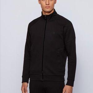 Hugo Boss Full Zip Mock Neck Sweater